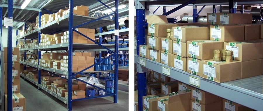 2. Scaffalatura industriale con 4 livelli di carico