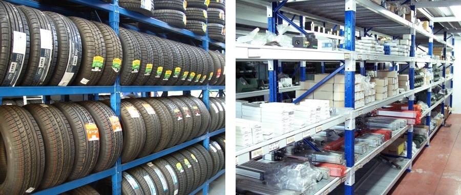 6. I Porta pneumatici sono la soluzione ideale per la perfetta sistemazione delle gomme (foto sin.)
