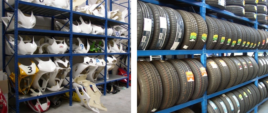 7. Scaffali per ricambi auto e porta pneumatici