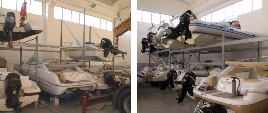 2. In nostro scaffale industriale E80 è stato progettato per sostenere imbarcazioni