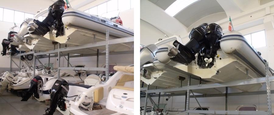4. Scaffali porta barche dedicati agli operatori del settore nautico