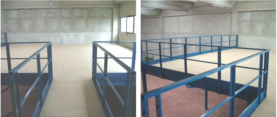 15. soppalco in carpenteria con pavimento in truciolare ignifugo